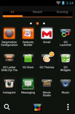 C Box android theme application menu