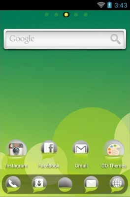 Bubble android theme home screen