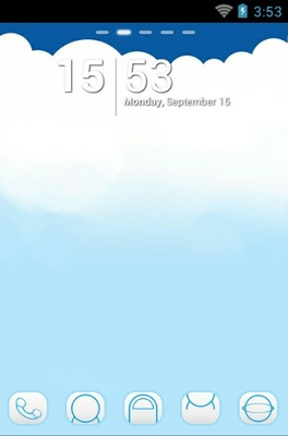 android theme 'Cloud'