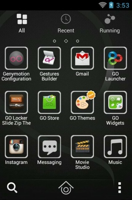 SP android theme application menu