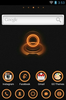 Z.Halo android theme home screen