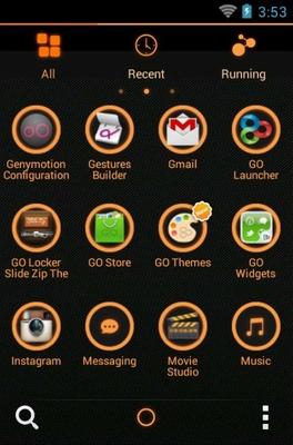 Z.Halo android theme application menu