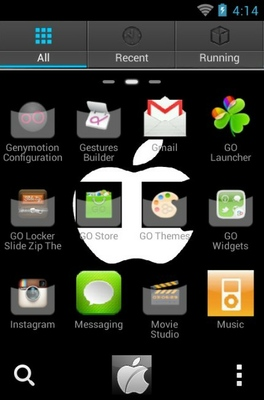iPhone android theme application menu
