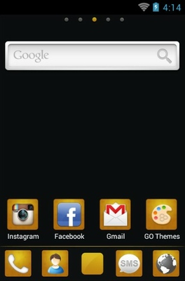 Black Gold android theme home screen