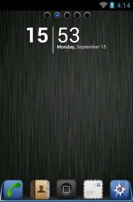 android theme 'iPhone DarkSteel Lite'