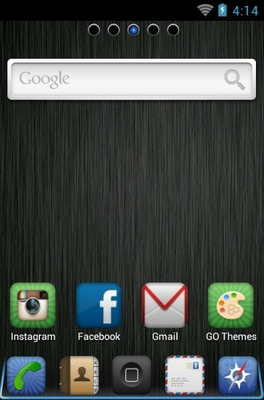 iPhone DarkSteel Lite android theme home screen