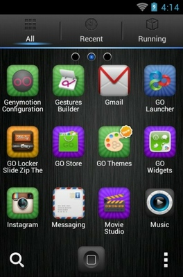 iPhone DarkSteel Lite android theme application menu