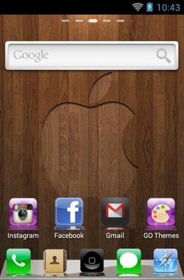 iPhone 4s android theme home screen