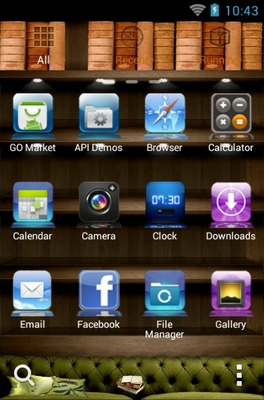 iPhone 4s android theme application menu