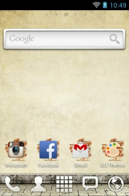 Backyard android theme home screen