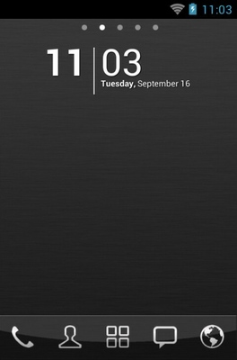 android theme 'Black Chrome'