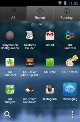 Fairytale android theme application menu