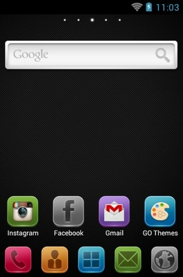 Lix android theme home screen