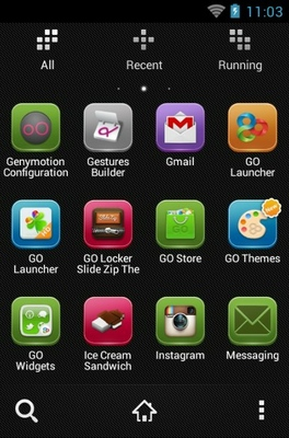 Lix android theme application menu