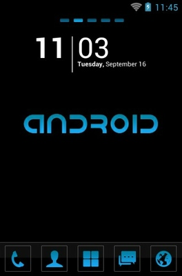 android theme 'Cool Blue'