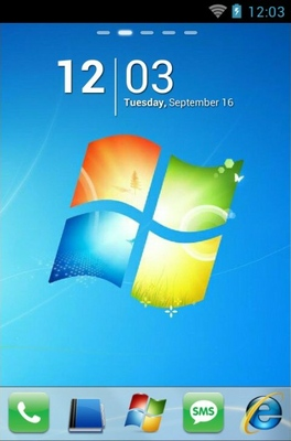 android theme 'Windows 7'