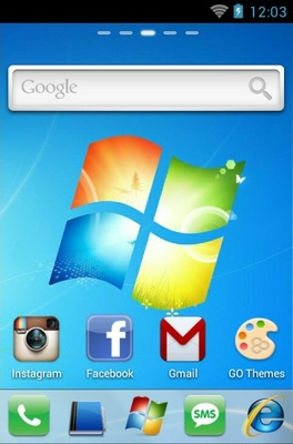 Windows 7 android theme home screen