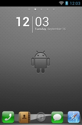 android theme 'iPhoneS'