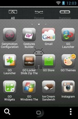 iPhoneS android theme application menu