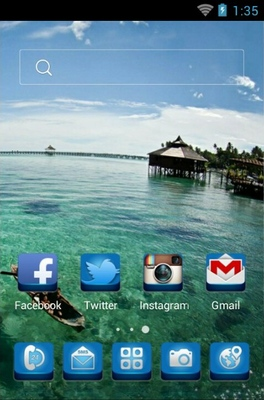 Mabul Island android theme home screen