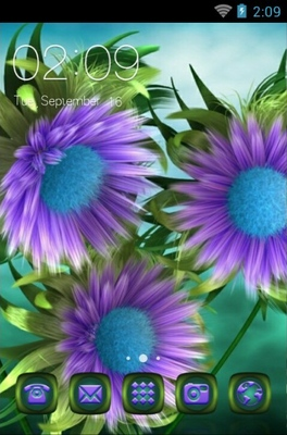 android theme 'Purple Flowers'