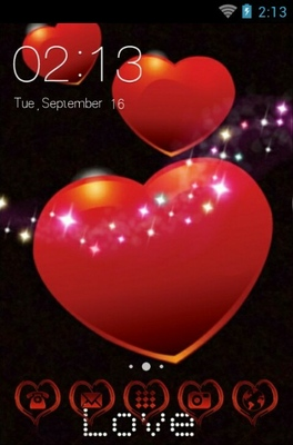 android theme 'Sparkling Hearts'