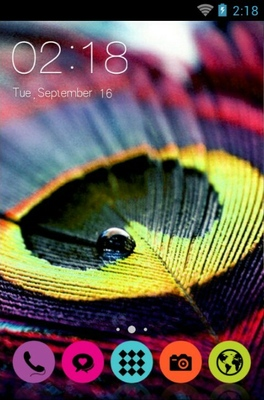 android theme 'Colourful Feathers'