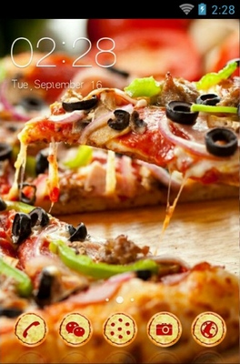 android theme 'Delicious Pizza'