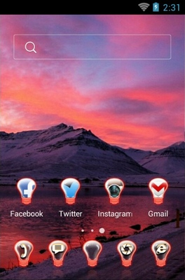 Evening Theme android theme home screen