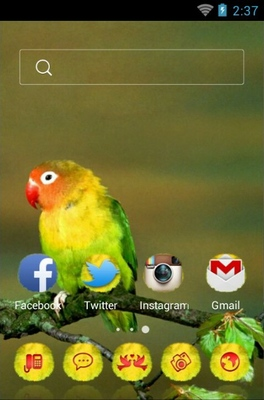 Love Birds android theme home screen