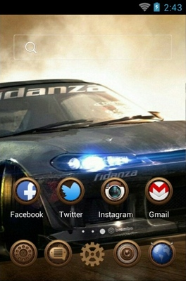 Rally Car android theme