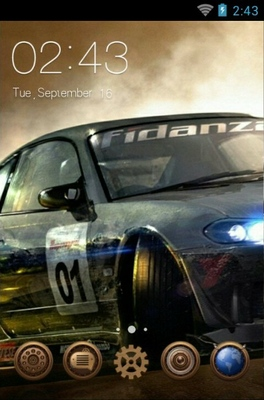 Rally Car android theme home screen