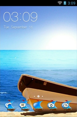 android theme 'Beautiful Beach'