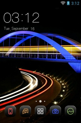 android theme 'Light Trail'
