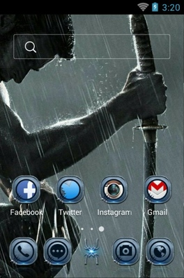 Wolverine android theme home screen