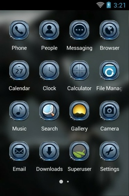 Wolverine android theme application menu