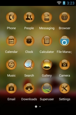 Steel Life android theme application menu