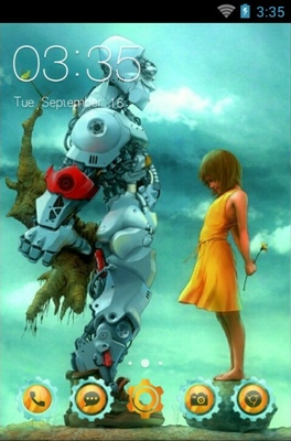 android theme 'Robot Love'