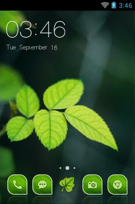 android theme 'Beautiful Leaf'