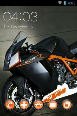 android theme 'RCB Bike'