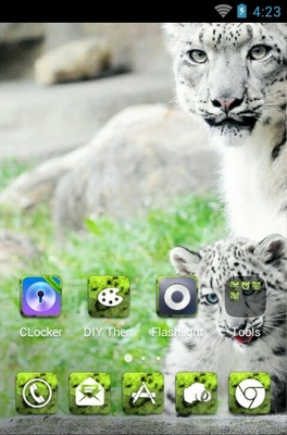 Snow Leopard android theme home screen