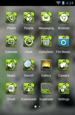 Snow Leopard android theme application menu