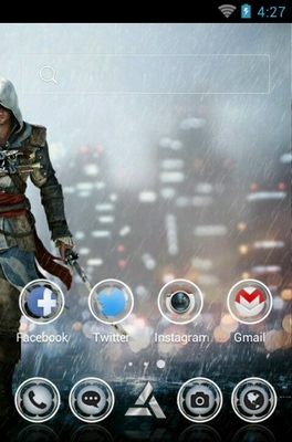 Assassins Creed android theme home screen