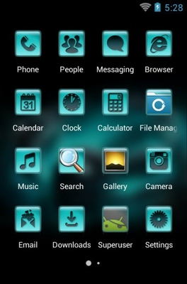 Music android theme application menu