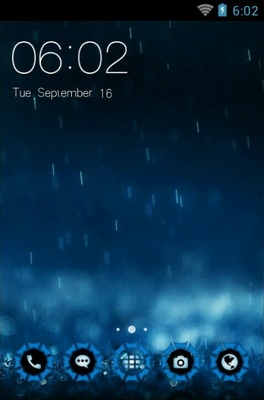 android theme 'Blue Rain'