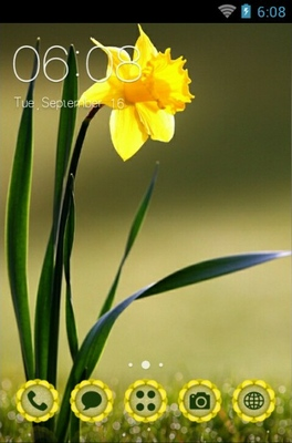 android theme 'Beautiful Flower'