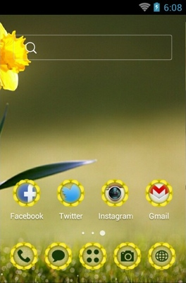 Beautiful Flower android theme home screen
