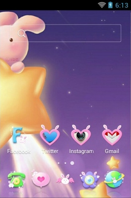 Bunny Came android theme home screen