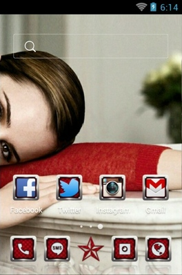 Emma Watson android theme home screen
