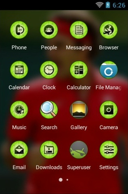 Roger Federer android theme application menu